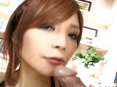 Hina Aiuchi in perfect double blowjob adventure
