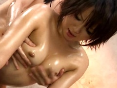 Dirty hairy Japanese pussy