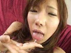 Serina Hayakawa Lovely Japanese doll shows off her hot pussy