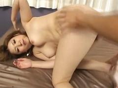 Riana Natsukawa Japanese beauty gets her pussy fingered