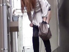 Japanese woman pissing