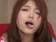 Hardcore pussy rubbing for Megumi Shino and super hot swallowing