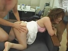 Miki Yoshii Takes on Two Guys