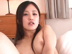 Gorgeous Ai wakana enjoying delighting her cunt