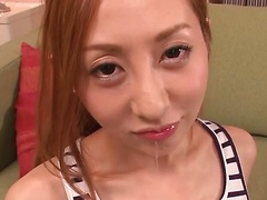 Erena Aihara takes two cocks for passionate blowjobs