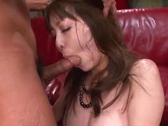 Arousal kiss making Akari Minamino have a nice sex