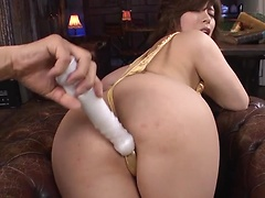 Awesome Asian woman with shaved pussy Ririsu Ayaka facialized after awesome scene