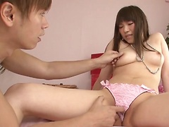 All natural hottie Yuri Sato fucked in her beautiful hairy pussy