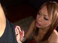 Asian Rina loves having her holes drilled well