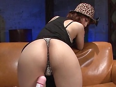 Fashionable Japanese slut with hot tits Tiara Ayase in the foursome scene