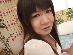 Teen Shino Mizusawa rides on a throbbing dick