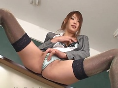 Sexy Yuno Hoshi makes her students turned on