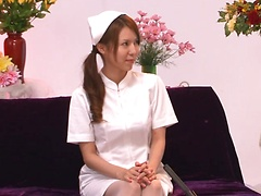 Nurse Rino Asuka gets pleased by her patient