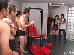 Slutty Yurina gets banged and covered in cum