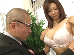 Hot Sayuri Mikami gets nailed in the office