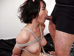 Misaki Akari hard blowjob - 1