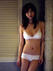 Sizzling hot asian babe looks delicious in her white lingerie - Japarn porn pics at JapHole.com