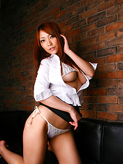 Naughty asian secretary takes off her clothes to show her body - Japarn porn pics at JapHole.com