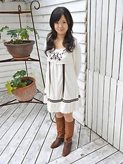 Teeny japanese girl Yume Aikawa in sexy dress - Japarn porn pics at JapHole.com