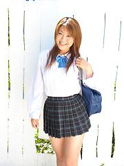 Nana Takesita outdoor masturbation - Japarn porn pics at JapHole.com