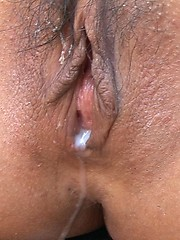 Tanned japanese babe Rio group creampie - Japarn porn pics at JapHole.com