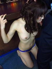 Japanese girl Nishijima Airi gets some cocks and facial cumshot