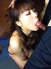 Japanese girl Nishijima Airi gets some cocks and facial cumshot - Japarn porn pics at JapHole.com