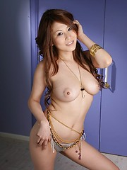 Busty Yuki Aida looking hot and posing nude - Japarn porn pics at JapHole.com