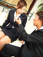Teenage Japanese girl loves a semen load on her cute face - Japarn porn pics at JapHole.com