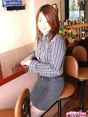 Horny Japanese bar girl sucks and fucks cock for seemens - Japarn porn pics at JapHole.com