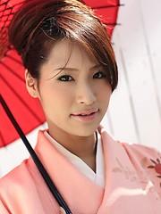 Akira Ichinose in kimono gets fucked hard - Japarn porn pics at JapHole.com