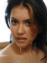 Asian Maria Ozawa gets a sticky cum facial - Japarn porn pics at JapHole.com