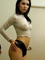 Hot Maria Ozawa strips n gets pussy fingered - Japarn porn pics at JapHole.com
