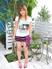 Young redhead japanese cutie Yuria Takashima
