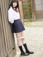 Young japanese girl Mirai Himeno posing outdoor - Japarn porn pics at JapHole.com