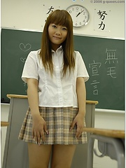 Amazing japanese schoolgirl posing in the classroom - Japarn porn pics at JapHole.com