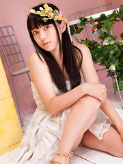 Tomoe Yamanaka Asian in white dress is beautiful like summer days - Japarn porn pics at JapHole.com