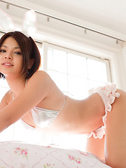 Tsubasa Akimoto Asian is such hot bunny on the house stairs - Japarn porn pics at JapHole.com