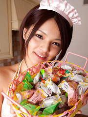 Tsubasa Akimoto Asian in kinky lingerie has candies to offer - Japarn porn pics at JapHole.com