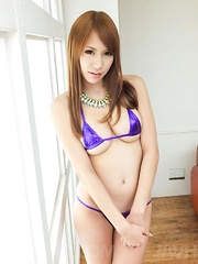 Nami Itoshino with big assets shows pussy and sucks strong penis - Japarn porn pics at JapHole.com