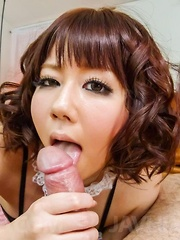 Yurika Miyachi sucks dick till gets cum and has sex toys in slit - Japarn porn pics at JapHole.com