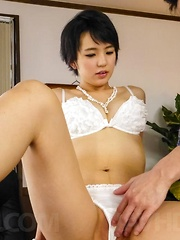 Sakura Aida has hairy slit rubbed, fingered and nailed a lot - Japarn porn pics at JapHole.com