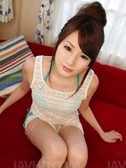 Runa Ayase Asian sucks two dicks at once till gets cum on fingers - Japarn porn pics at JapHole.com