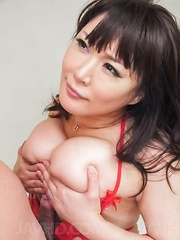 Hinata Komine busty takes tools between lips and in ass and twat - Japarn porn pics at JapHole.com