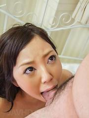 Ayane Okura gets dick deepthroat and then in licked fish taco - Japarn porn pics at JapHole.com