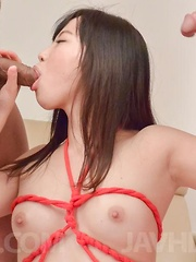 Sayaka Takahashi Asian in strings licks tools and is well fucked - Japarn porn pics at JapHole.com