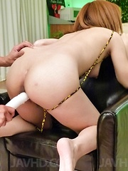 Junna Hara is fucked with vibrators and gets cumshot on face - Japarn porn pics at JapHole.com