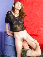 Riina Fujimoto in lace blouse has nooky licked and well pumped - Japarn porn pics at JapHole.com