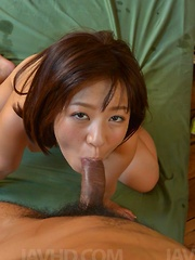 Wakaba Onoue Asian has boobs squeezed and twat eaten and pumped - Japarn porn pics at JapHole.com