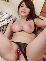 Rie Tachikawa Asian busty screams a lot while is aroused a lot - Japarn porn pics at JapHole.com